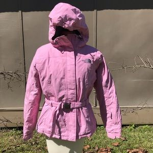 North Face Pink Hooded Parka